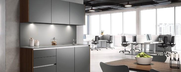 CUCINA - die Büroküche von Palmberg wird schnell zum Mittelpunkt ...